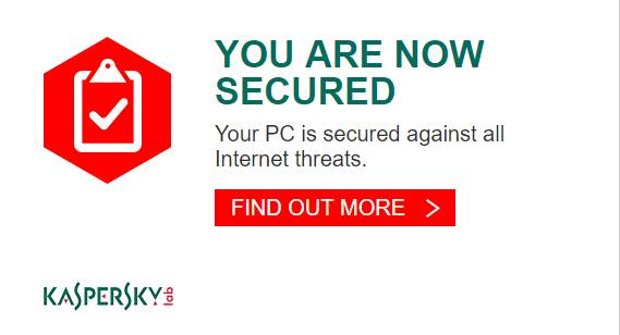 Kaspersky Lab welcome splash screen